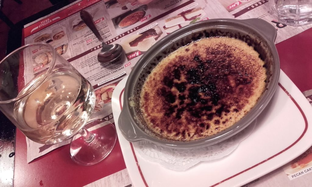 Creme Brulee from Buffalo Grill Paris