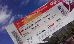 ticket to IIHF match