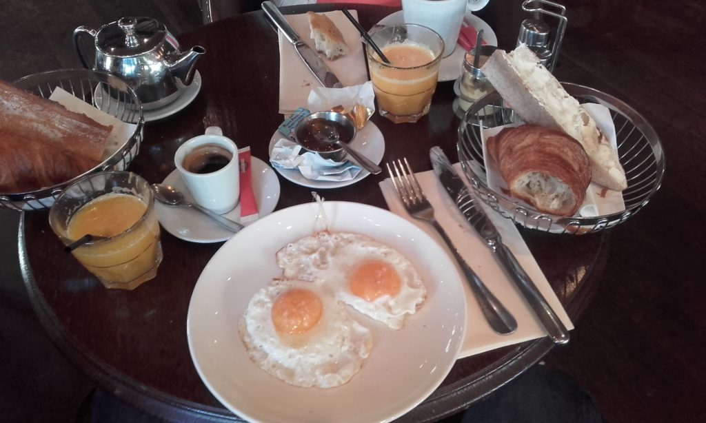 having a french breakfast