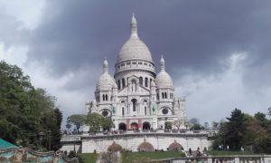 sacre coeur on top of montmarte hill
