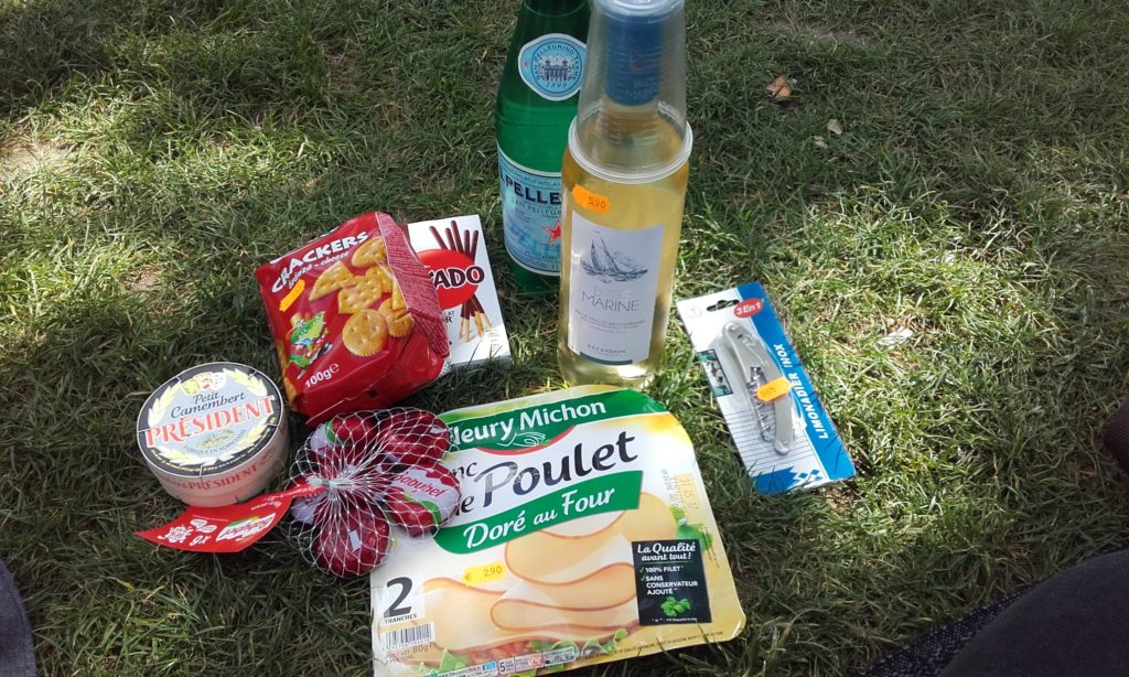picnic lunch in champ de mars park