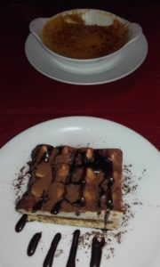 Tiramisu and Creme Brulee at Pizzeria Renato