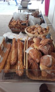 fresh baguettes and sweet bread