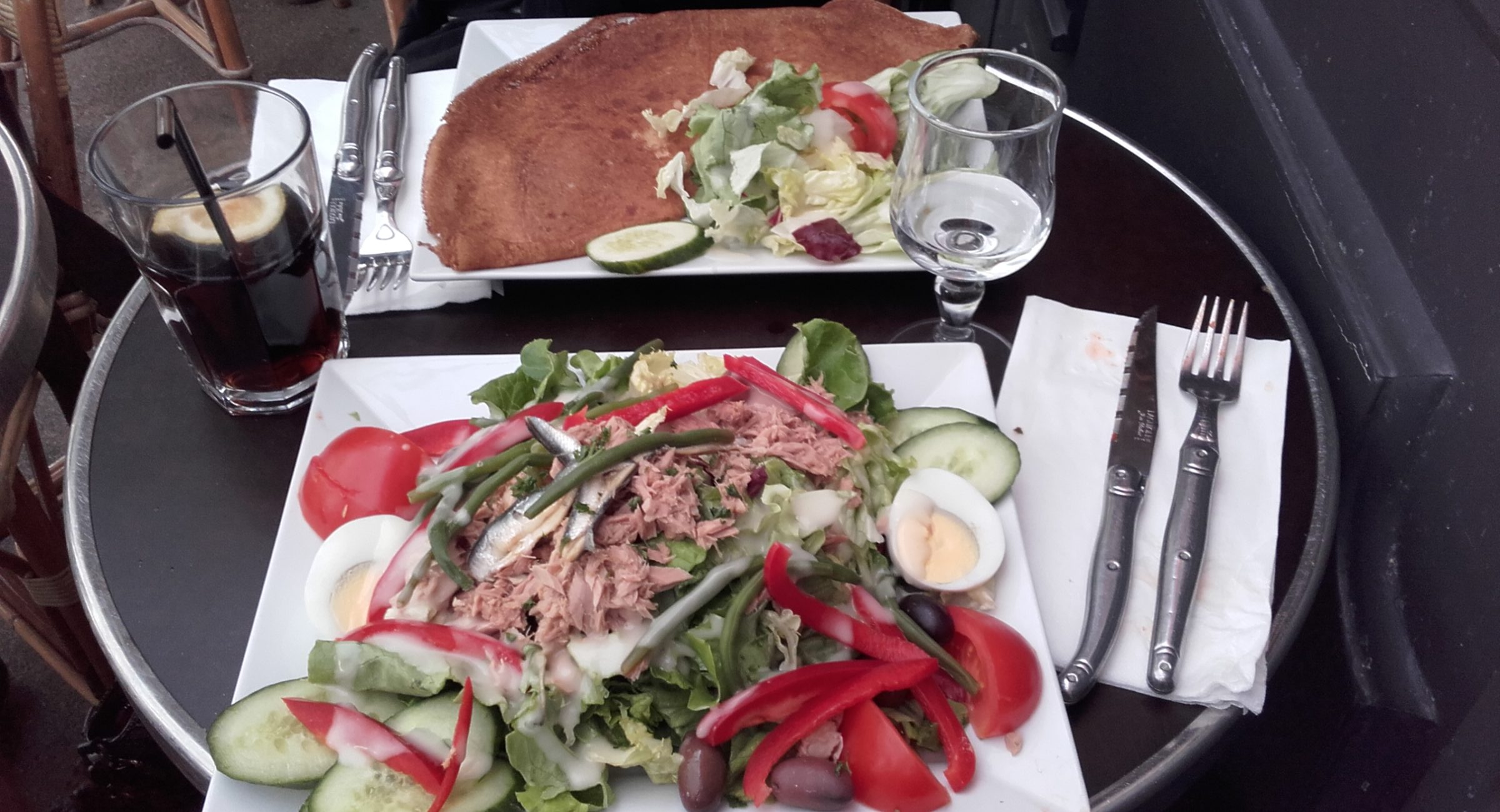 salad and a crepe from Le saint severin