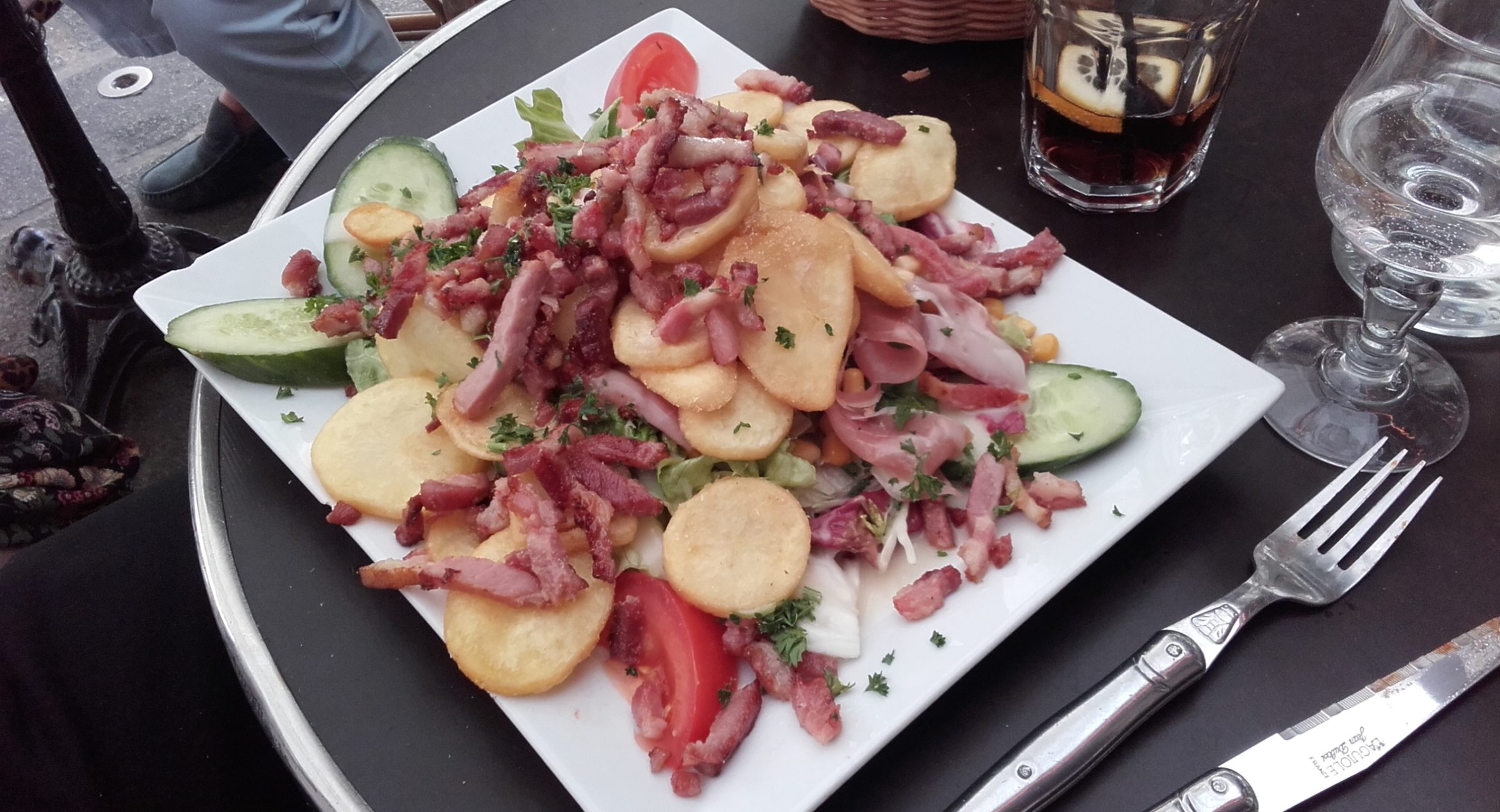 salad with potatoes and bacon